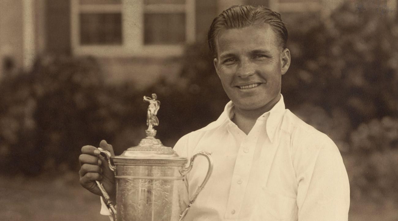 Johnny Goodman after winning the 1933 U.S. Open.