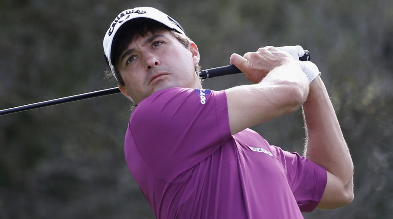 Kevin Kisner tees off on the second hole during the third round of the RSM Classic.