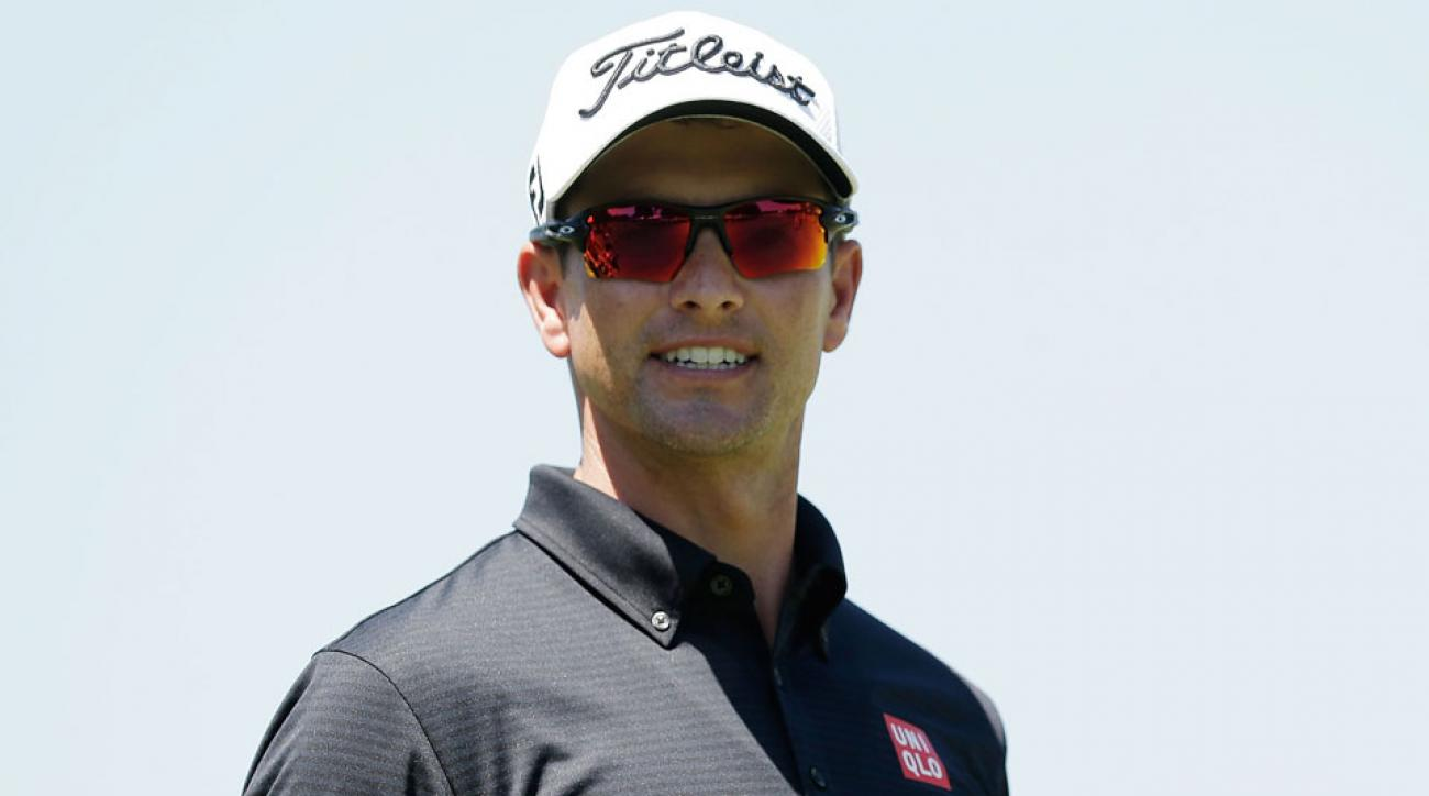 Adam Scott at the pro-am prior to the start of the Australian Open.