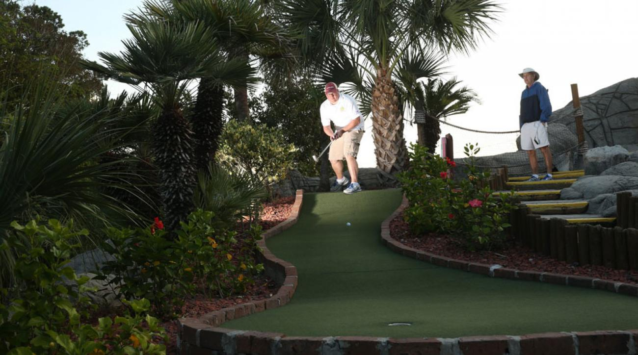 The pace of play is brisk and the competition intense at the mini golf Master's.