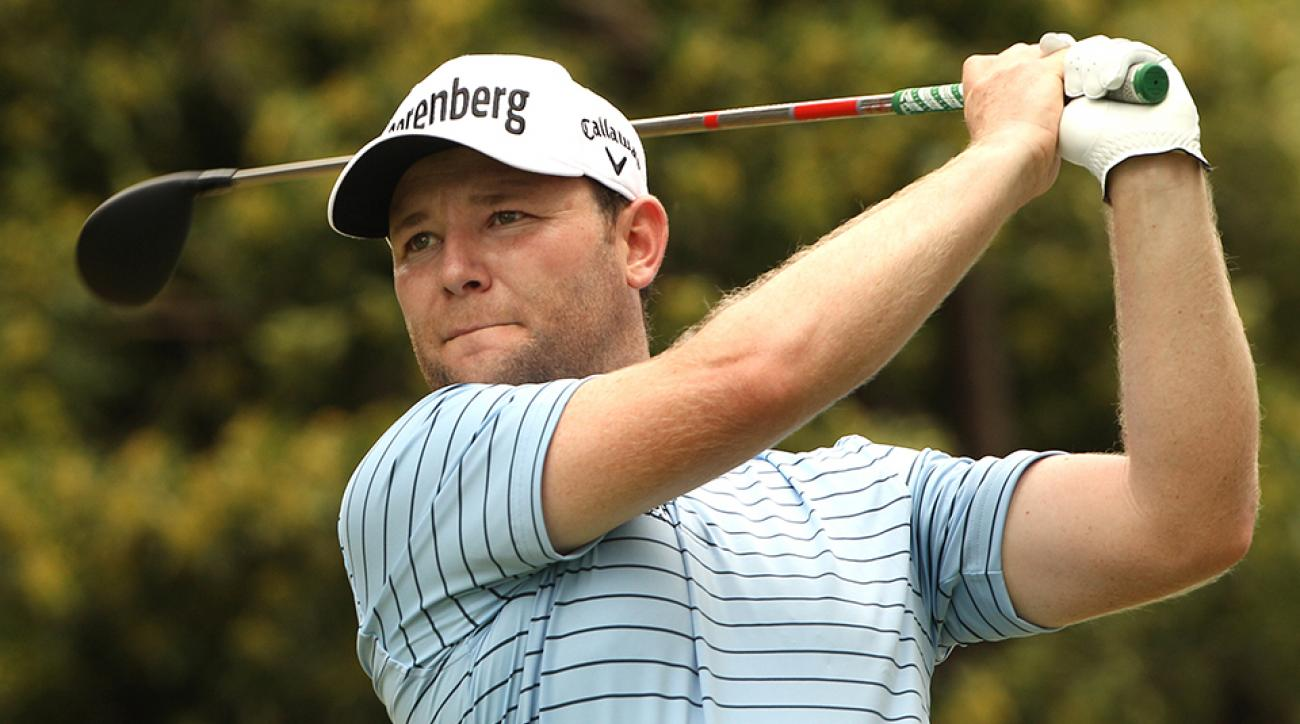 Branden Grace tees off on the 13th hole during the second round of the SA Open.