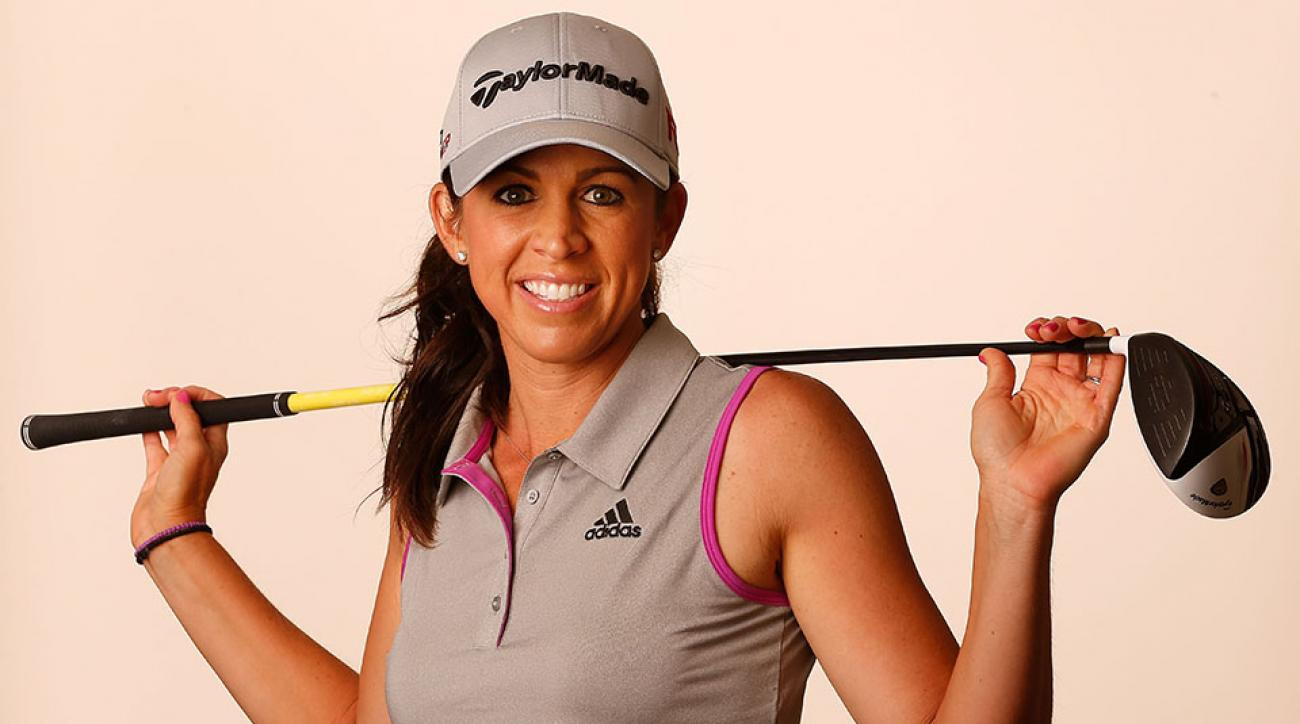 Nicole Castrale poses for a portrait ahead of the LPGA Founders Cup at Wildfire Golf Club on March 18, 2015 in Phoenix, Arizona.