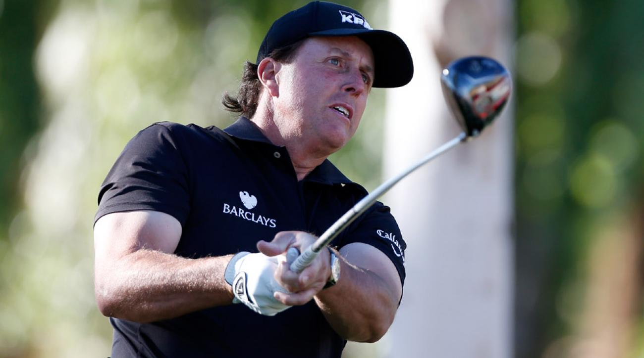 Phil Mickelson at La Quinta Country Club during last year's event, where he shot a 68 on Thursday.