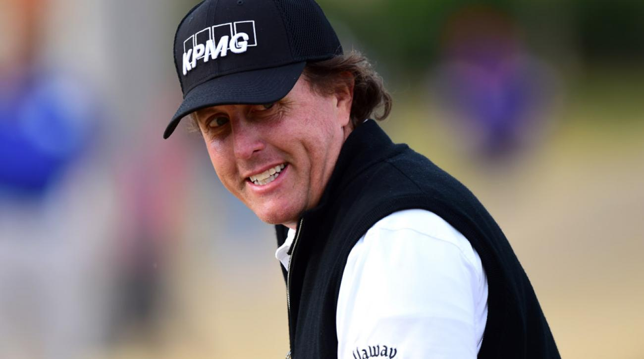 Phil Mickelson during the second round of the 2016 CareerBuilder Challenge.