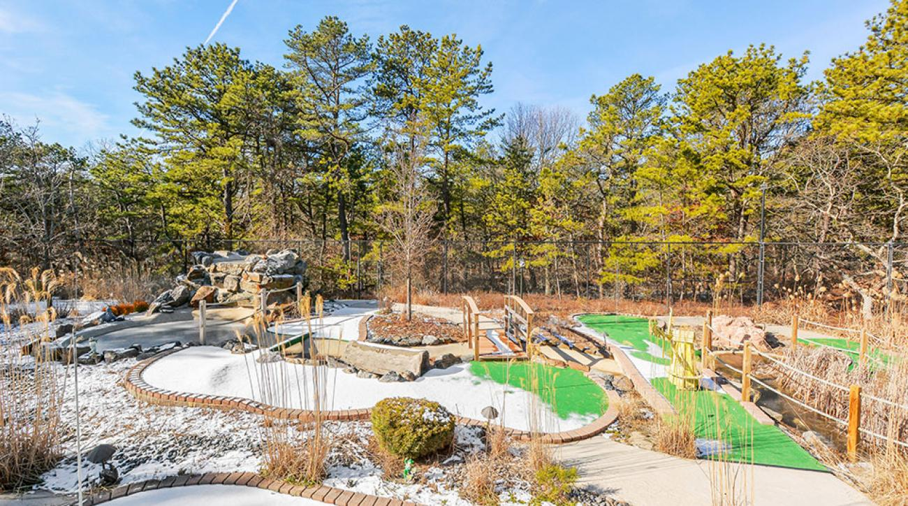 A view of the private mini golf course in East Quogue, New York.