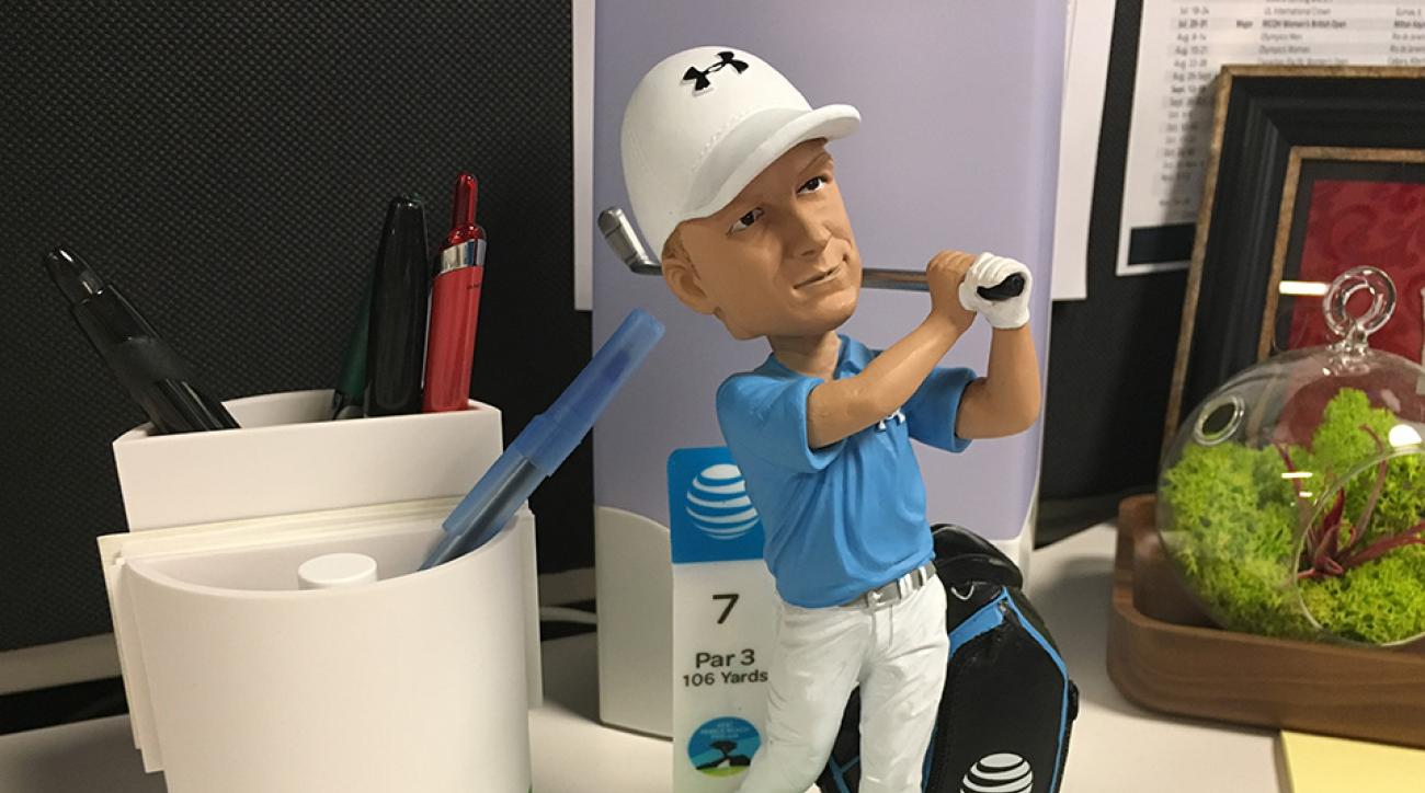The 2016 Jordan Spieth AT&T Pebble Beach National Pro-Am bobblehead will be offered to the first 8,000 fans for Saturday's round.