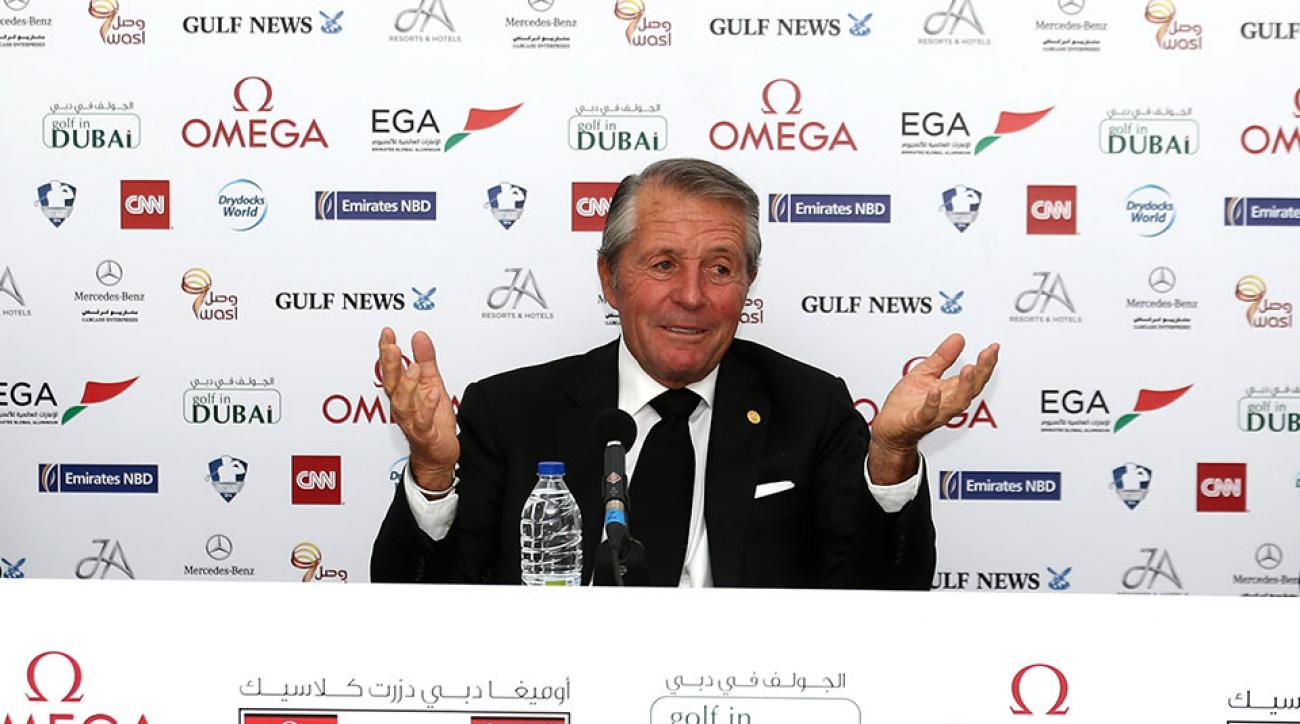 Gary Player addresses the media as he is named named as host of the Nedbank Golf Challenge.