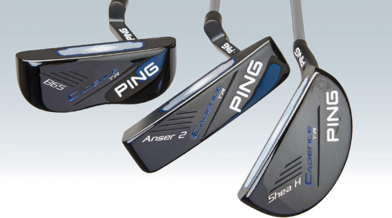 """Face-balanced putters (far left) work best with """"piston"""" strokes. If you putt on an arc, a toe-weighted model works."""