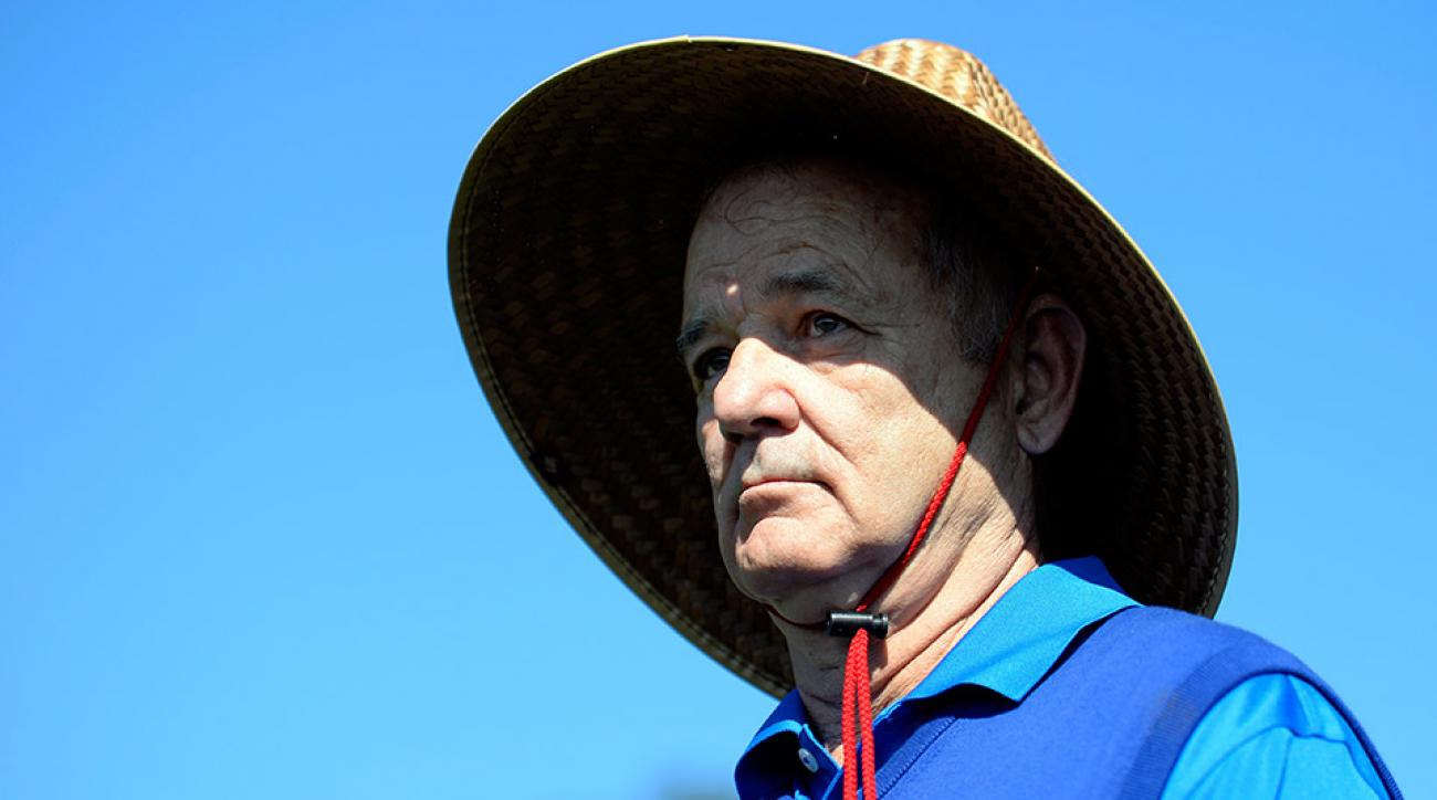 Bill Murray shows off a pretty spectacular hat at Pebble Beach.