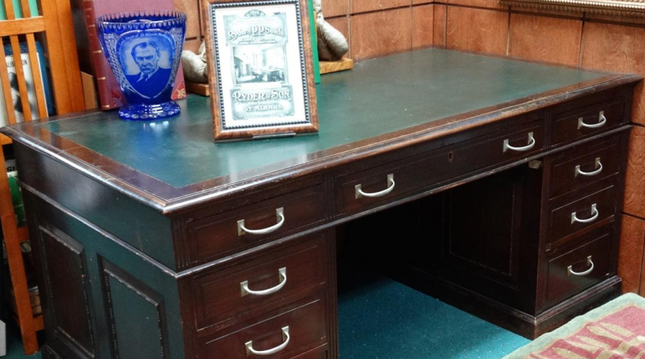 Samuel Ryder's desk is just one of the items included in the auction.