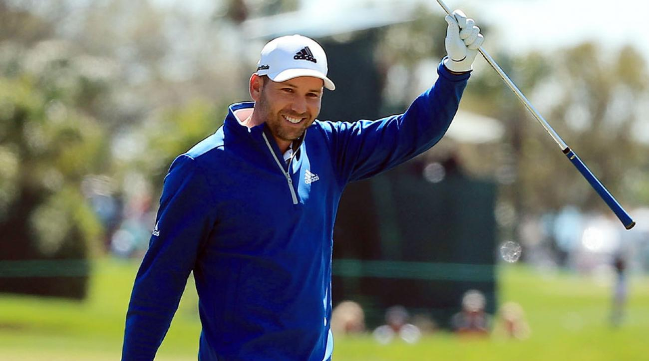 Sergio Garcia's first round at the Honda Classic got off to a stellar start with an eagle on the second hole.