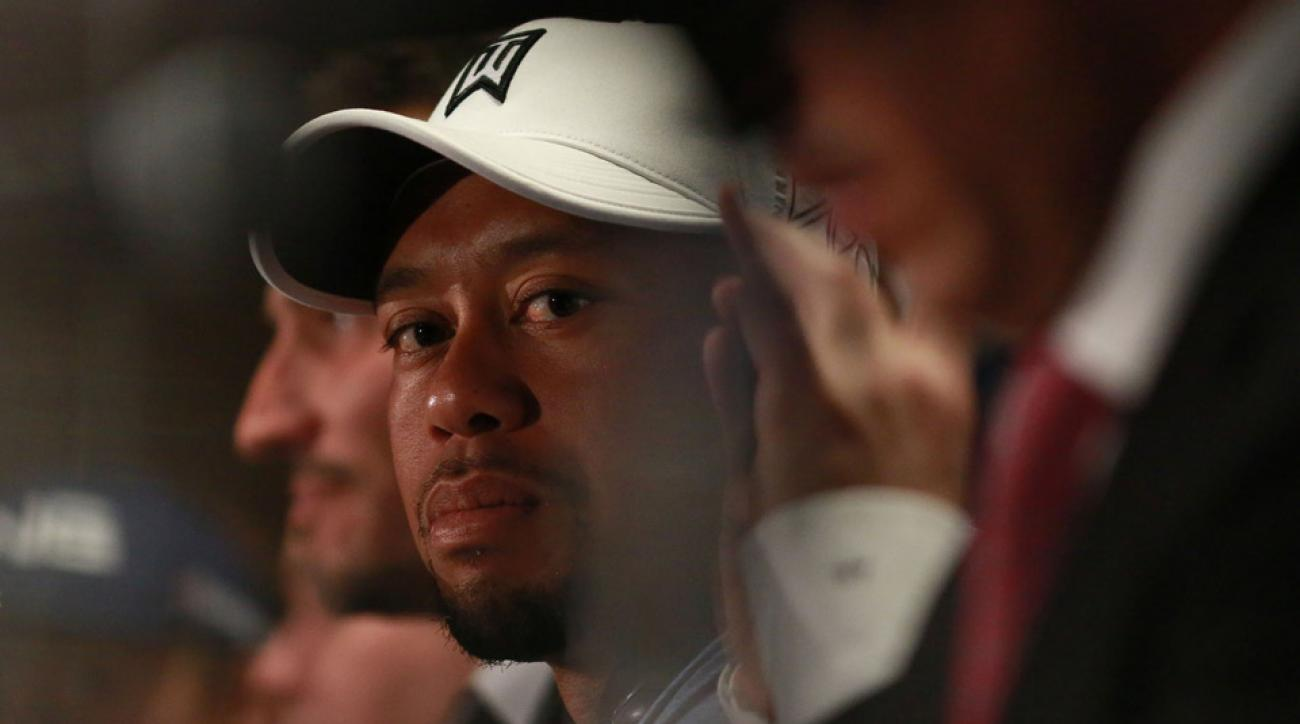 Tiger Woods at the 2015 Hero World Challenge in December.