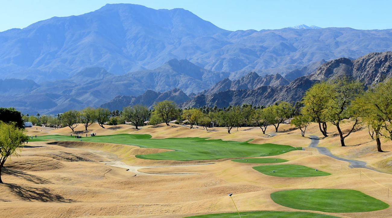 The par-5 16th at PGA West's Stadium Course features a 30-foot deep bunker to the left.