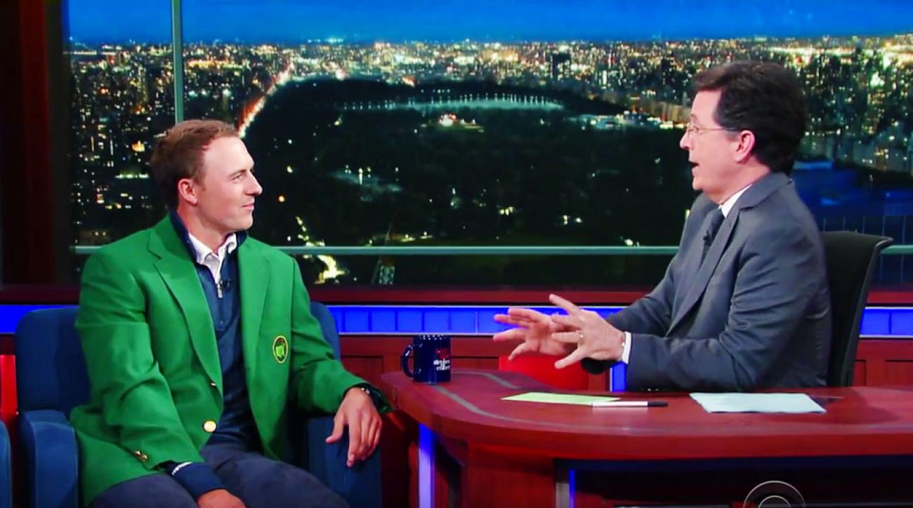 Jordan Spieth spoke reverentially about August and the Masters to Stephen Colbert on The Late Show.