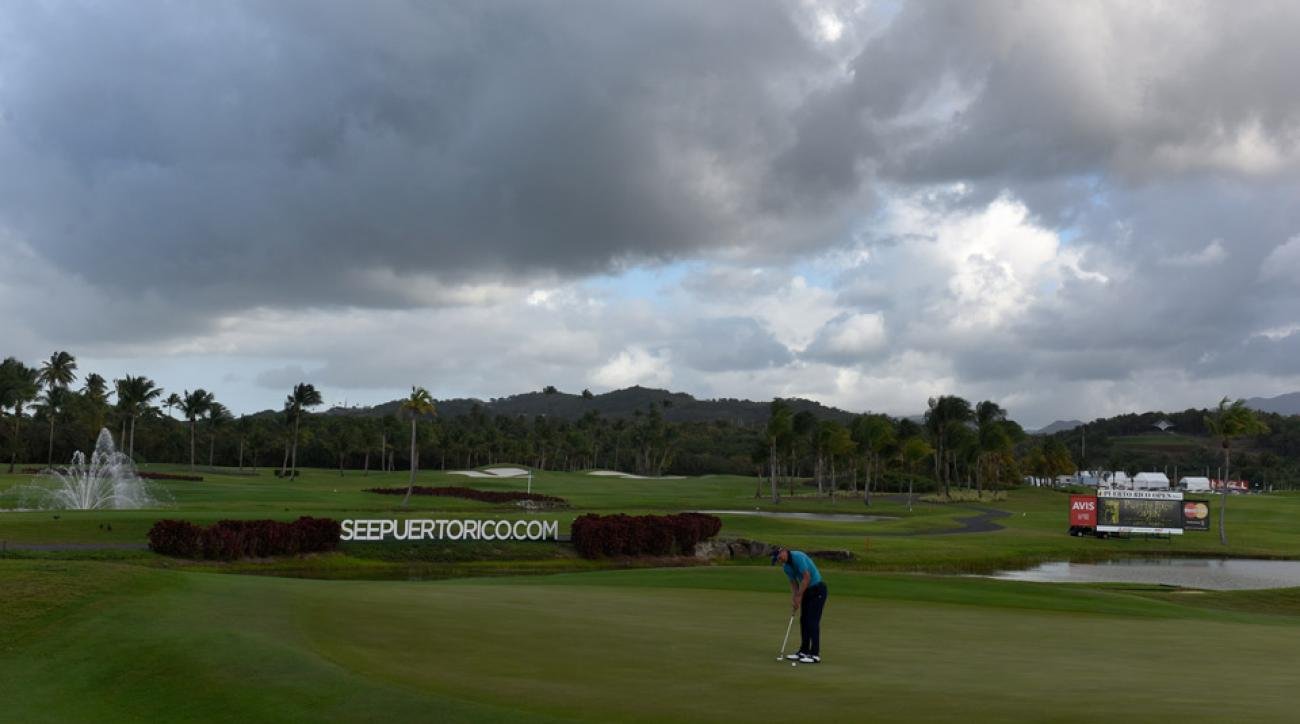 Luke Donald during the second round of the Puerto Rico Open.