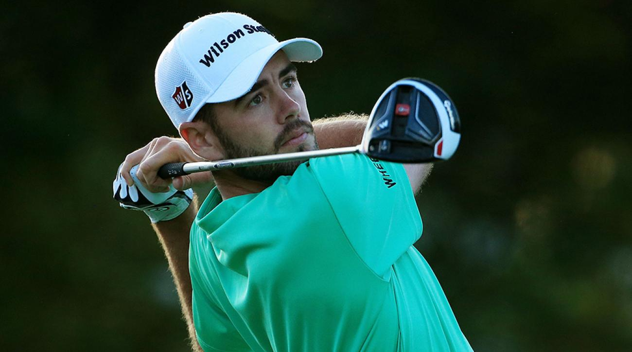 Troy Merritt plays his shot from the first tee during the first round of the Sony Open In Hawaii at Waialae Country Club on January 14, 2016 in Honolulu, Hawaii.