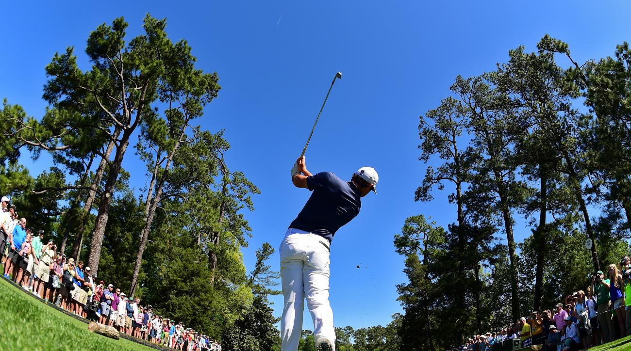 Rory McIlroy watches one of his shots during a practice round prior to the start of the 2015 Masters at Augusta National Golf Club on April 4, 2016, in Augusta, Georgia.