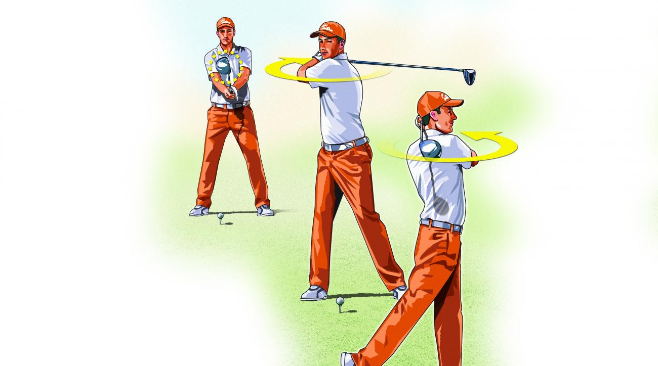 Swing your driver like a baseball bat to learn the feeling of a smooth, continuous motion.