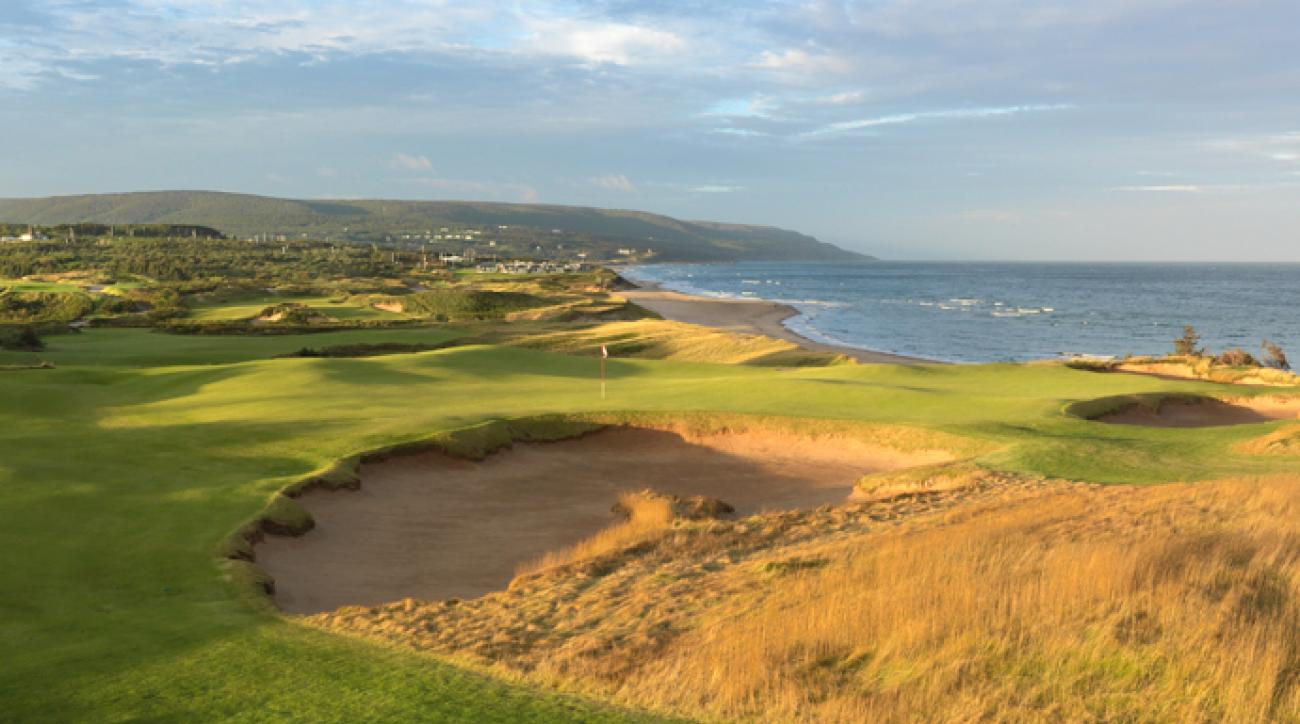 Cabot Cliffs towers more than 100 feet above the Gulf of St. Lawrence, reminiscent of Pebble Beach, yet it also features lower-lying holes in the beach-side dunes. Bill Coore and Ben Crenshaw have yielded their usual strategy-laced artistry, via wide, yet