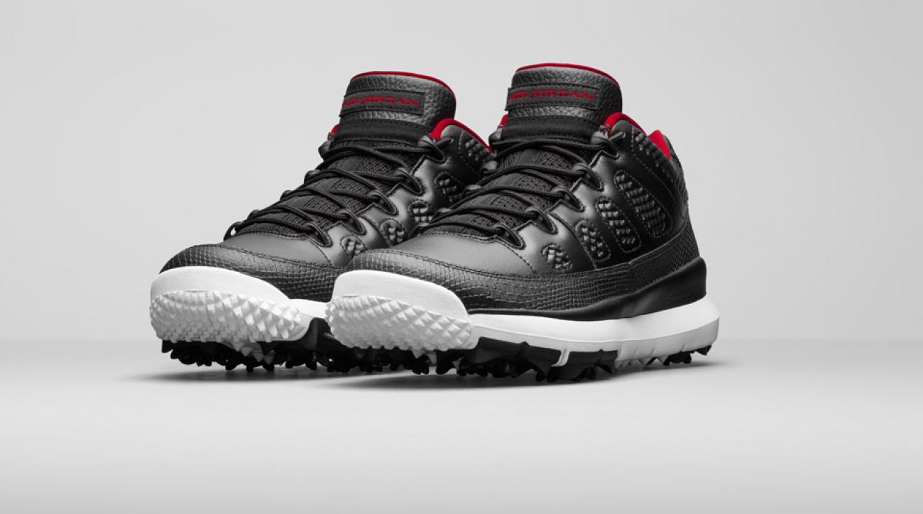 A look at the Nike Jordan IX Retro golf shoes.
