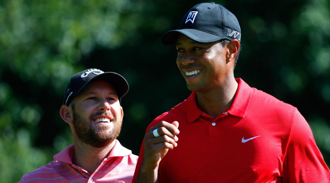 Tiger Woods at last year's Wyndham Championship.