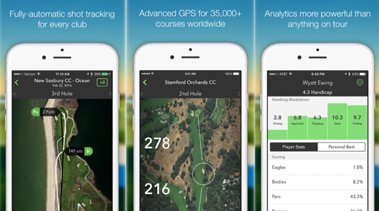 The Arccos app serves up detailed illustrations and yardages for more than 40,000 courses.