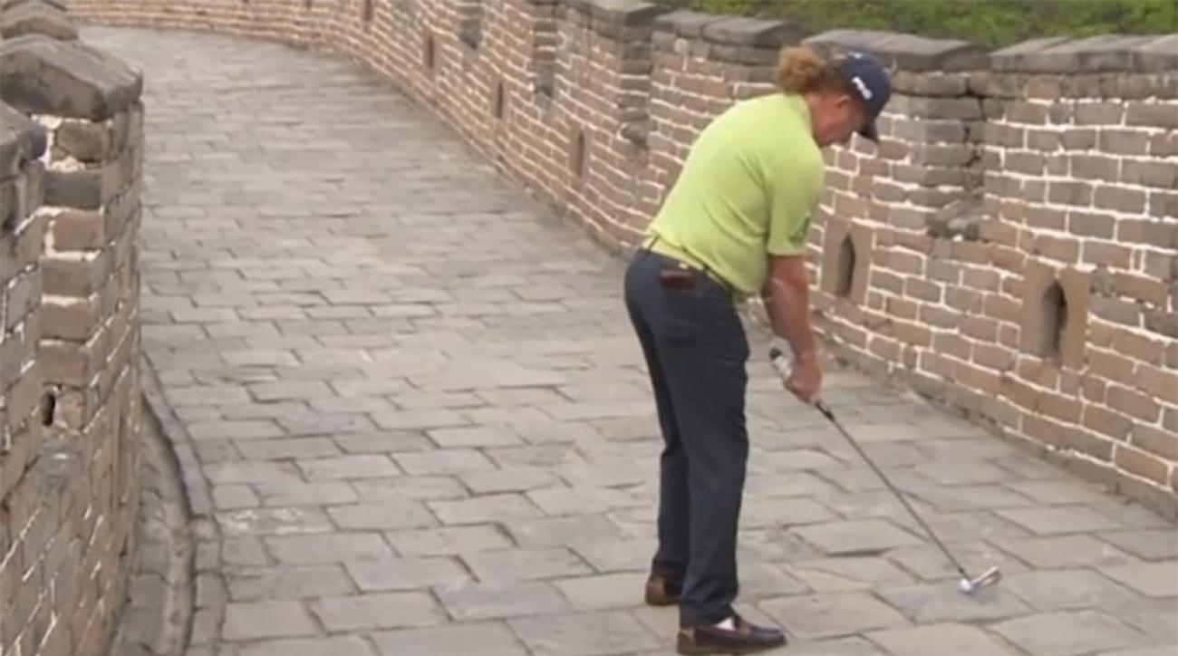 Watch MAJ pick it clean off the Great Wall of China.