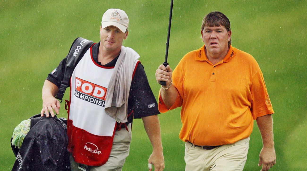 At the 2008 PODS Championship, Daly found a new caddie: Tampa Bay Bucs head coach Jon Gruden.