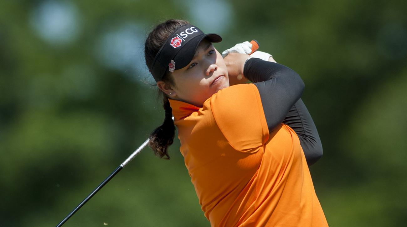 Ariya Jutanugarn during round three of the Yokohama Tire LPGA Classic.