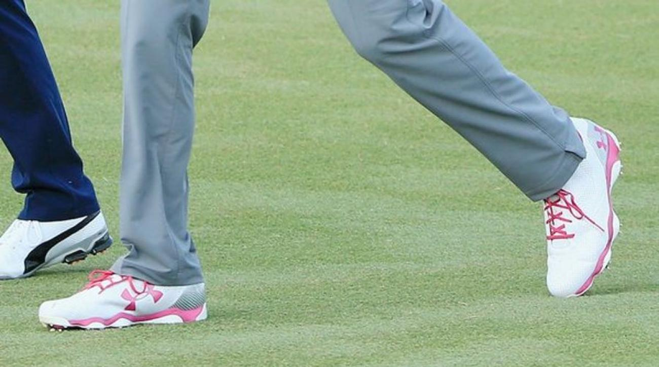 Jordan Spieth's Under Armour Drive One's typically have blue, grey or black accents.