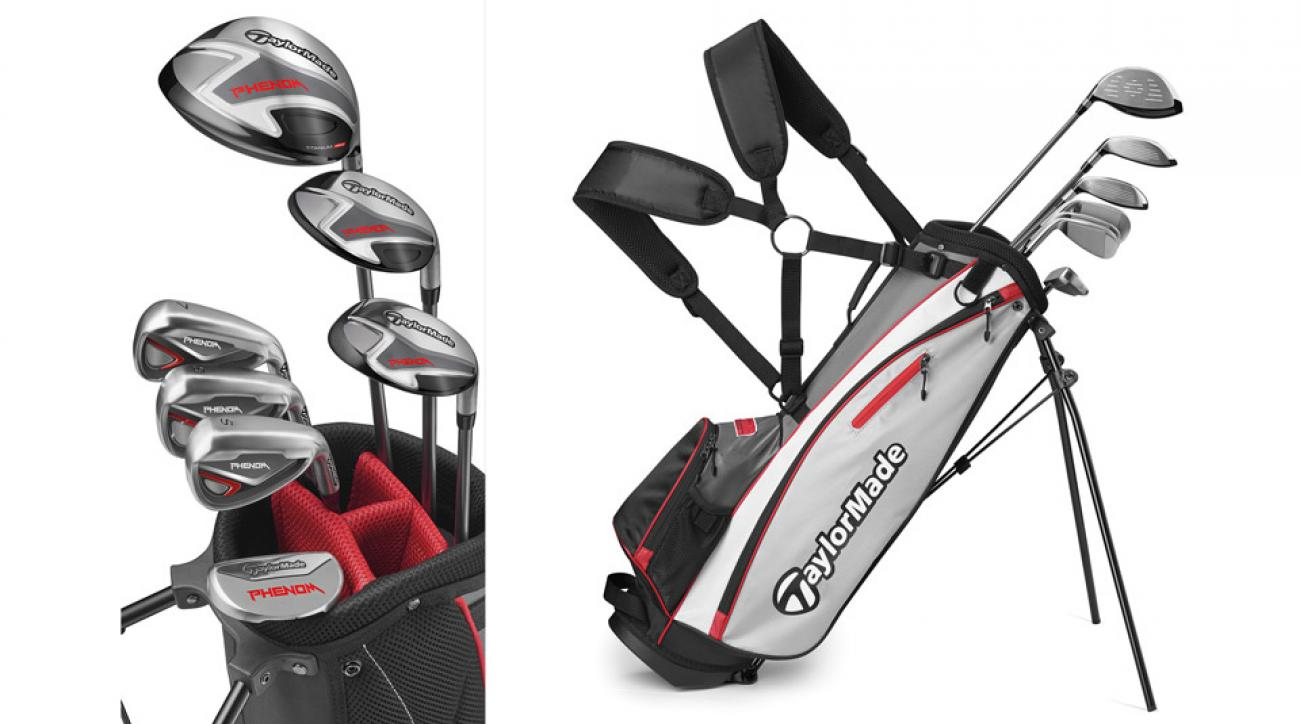 TaylorMade's new Phenom junior golf clubs.