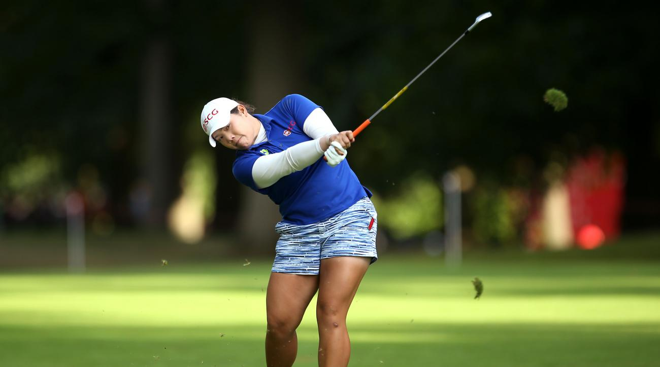 Thailand's Ariya Jutanugarn in action during day three of the Women's British Open at Woburn Golf Club in Woburn, England, Saturday, July 30, 2016. The Women's British Open was established by the Ladies' Golf Union in 1976 and was intended to serve as