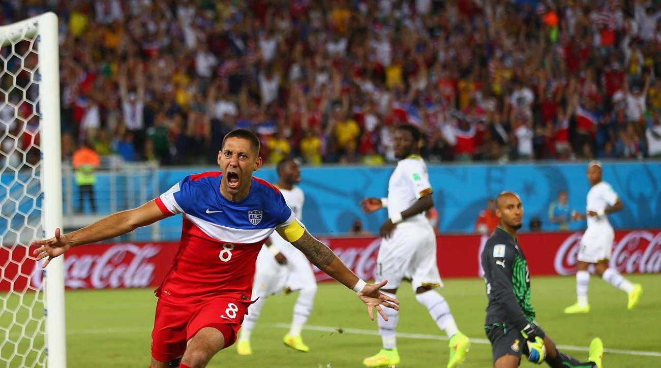 Clint Dempsey scored 34 seconds into the match against Ghana, the fastest ever scored by an American in the tournament and the sixth-fastest in World Cup history.