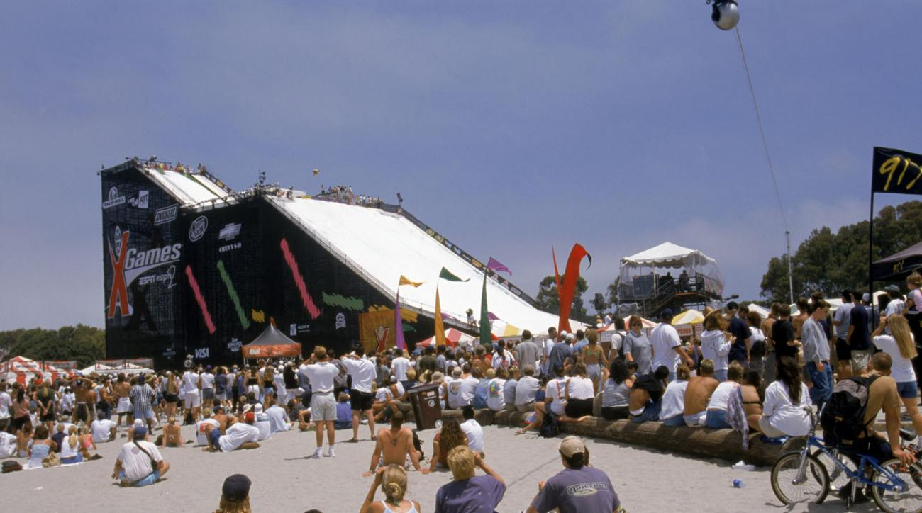 A look at the view of the Snow Ramp during the ESPN X Games on June 27, 1998 in San Diego, California.