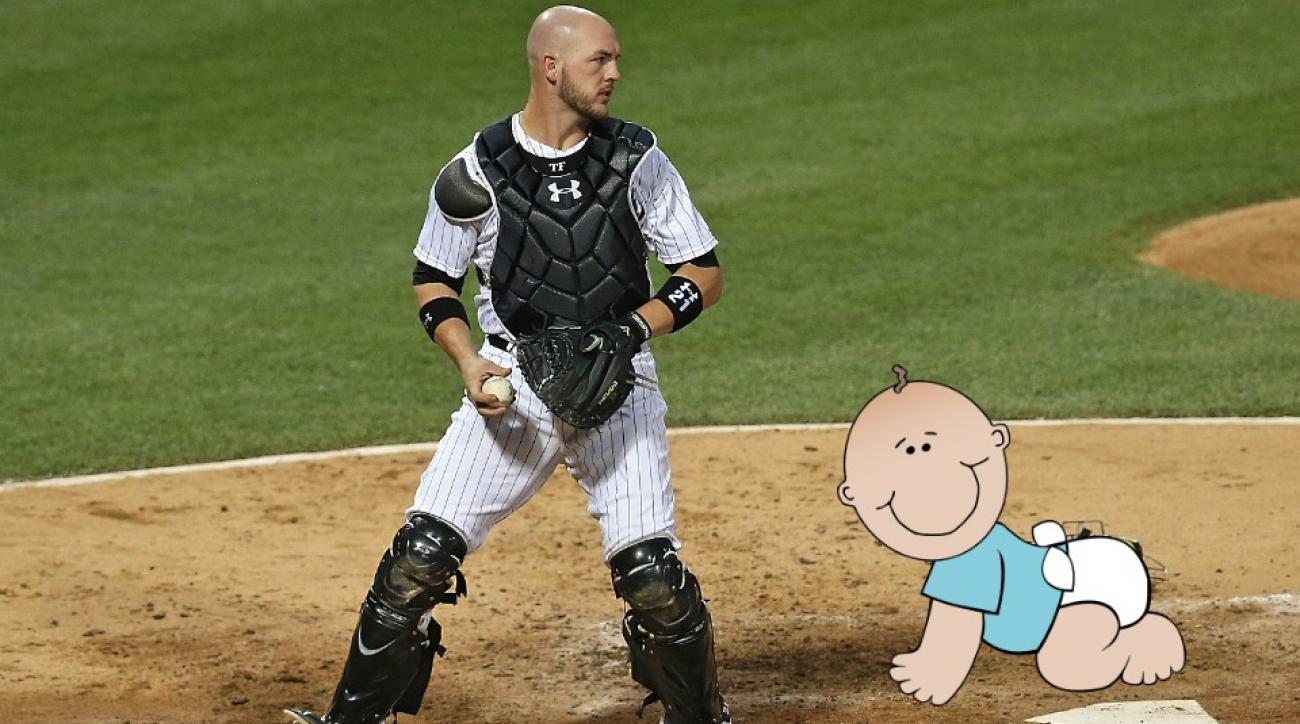 Chicago White Sox C Tyler Flowers Made It To The Hospital For His