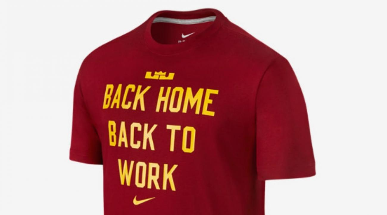 the latest 38a54 ec0d3 Nike's new LeBron James shirt proclaims