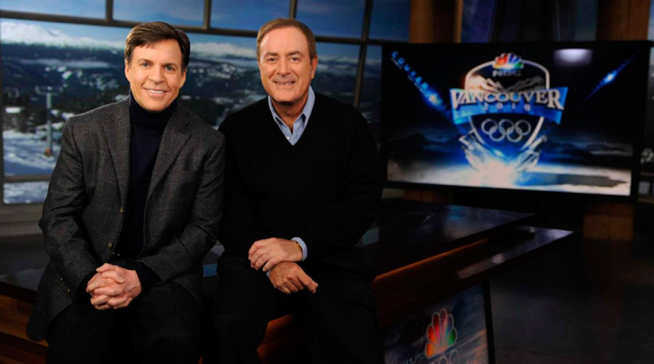 Bob Costas and Al Michael of NBC prepare to cover the Olympics in Vancouver.