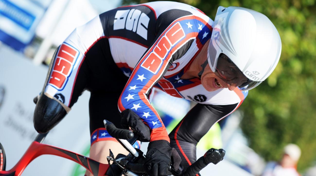 Todd Key at the 2014 Para-cycling World Championships in Greenville, S.C.