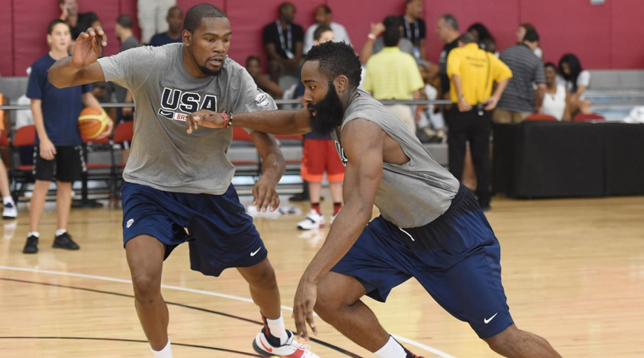 Kevin Durant and James Harden will be integral members of Team USA.