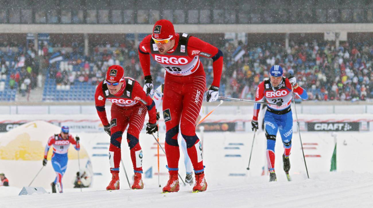 Eirik Brandsdahl (left) and Petter Northug (right) are among several Norwegians vying for spots on Norway's talented cross-country Olympic delegation.