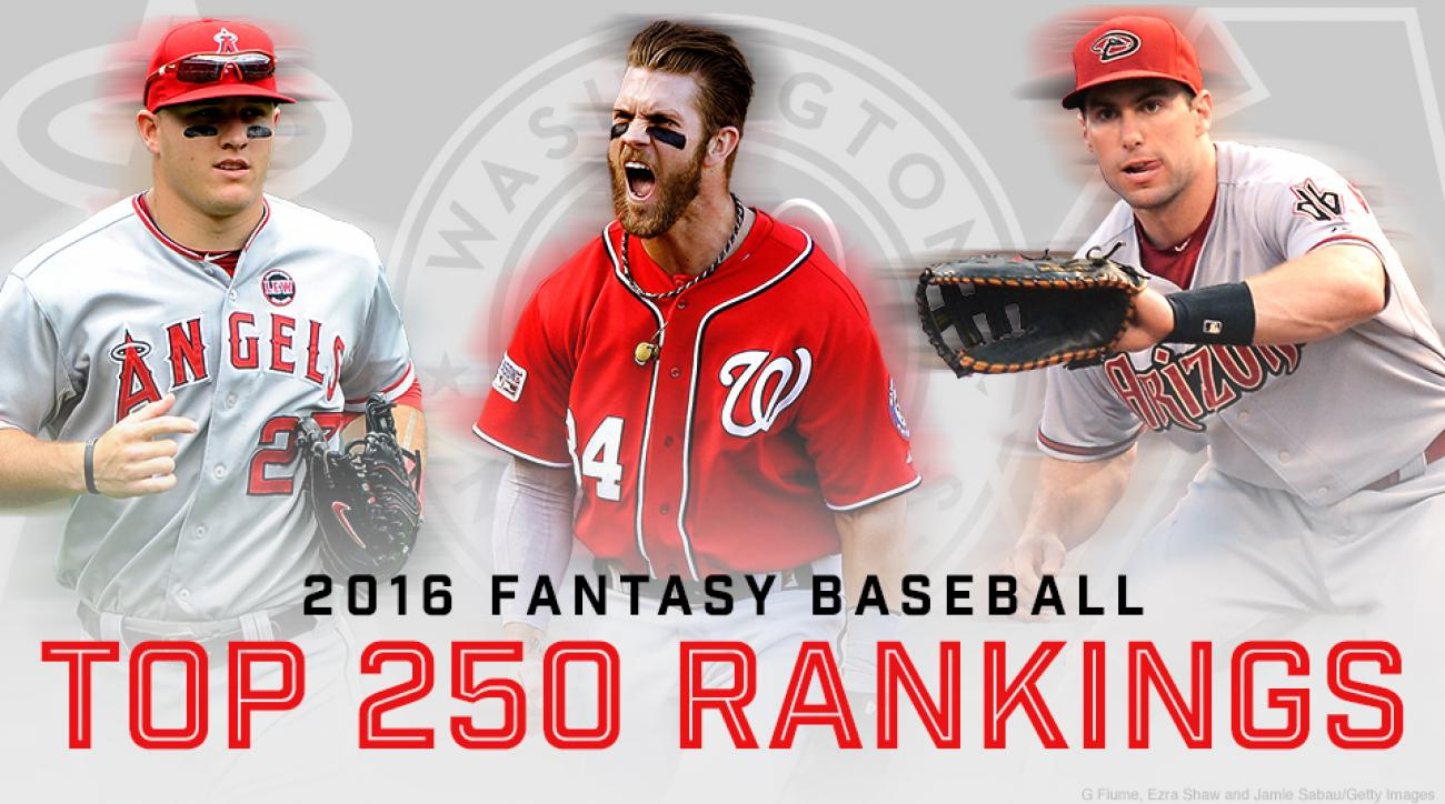 image regarding Printable Fantasy Baseball Rankings called Myth baseball: Prep for drafts with greatest 250 participant
