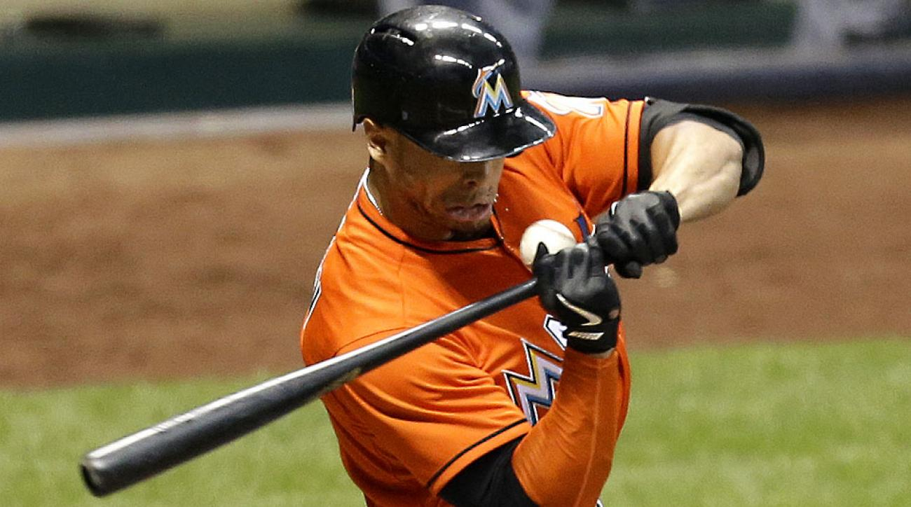 Giancarlo Stanton's MVP-caliber season is likely over after a stray fastball from Brewers pitcher Mike Fiers hit Stanton in the face Thursday.