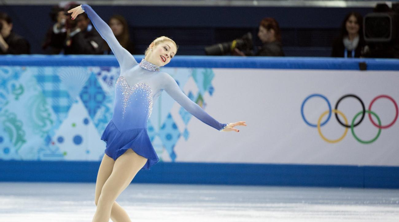 Gracie Gold of the United States take part in the Team Ladies Free Skating on Day 2 of the 2014 Winter Olympics in Sochi.