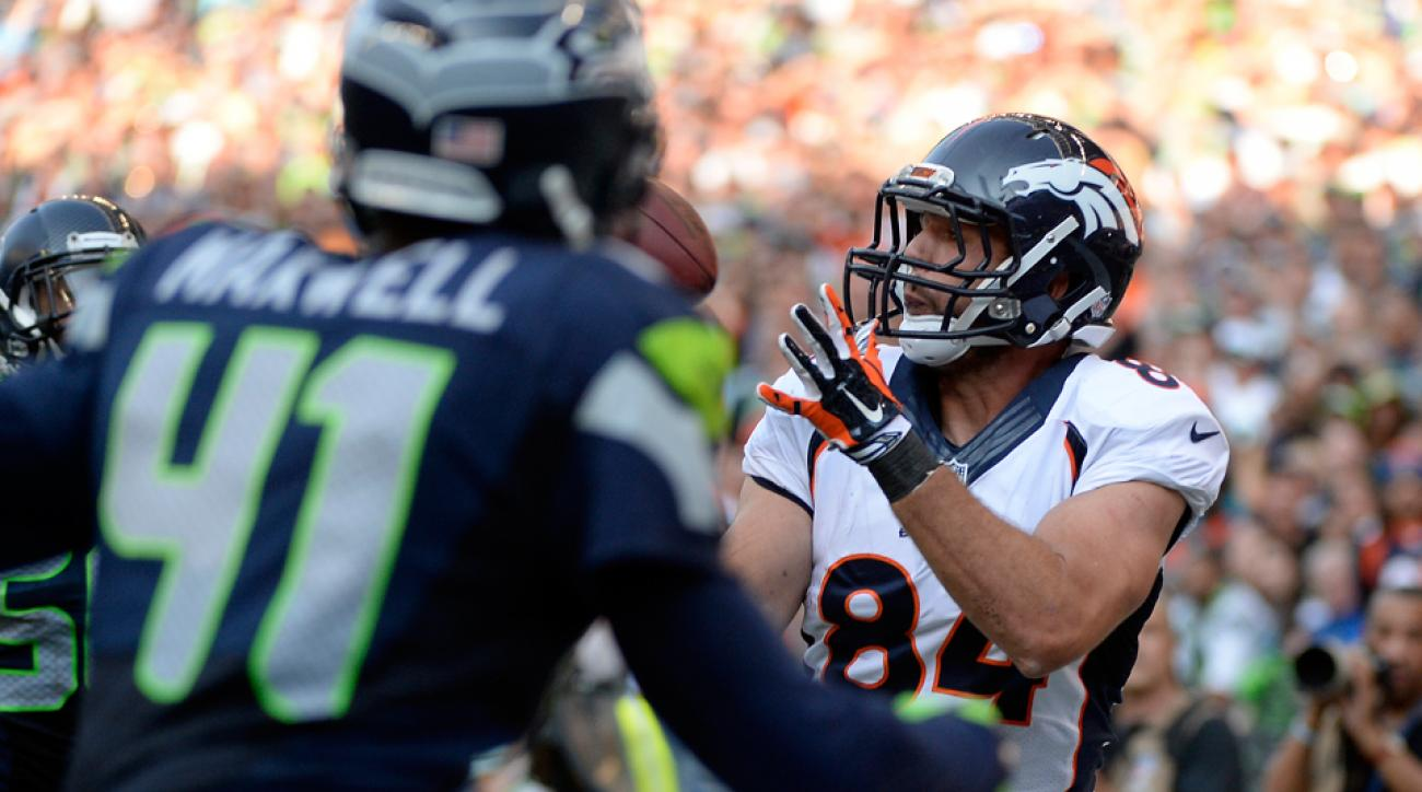 Jacob Tamme was one of two receivers who bedeviled Seattle's defense late in Sunday's game.