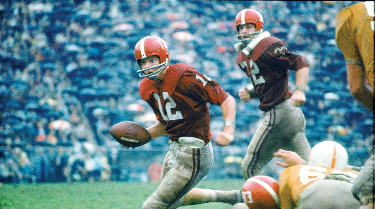 Kenny Stabler quarterbacks for Alabama in a 1966 game at Tennessee.