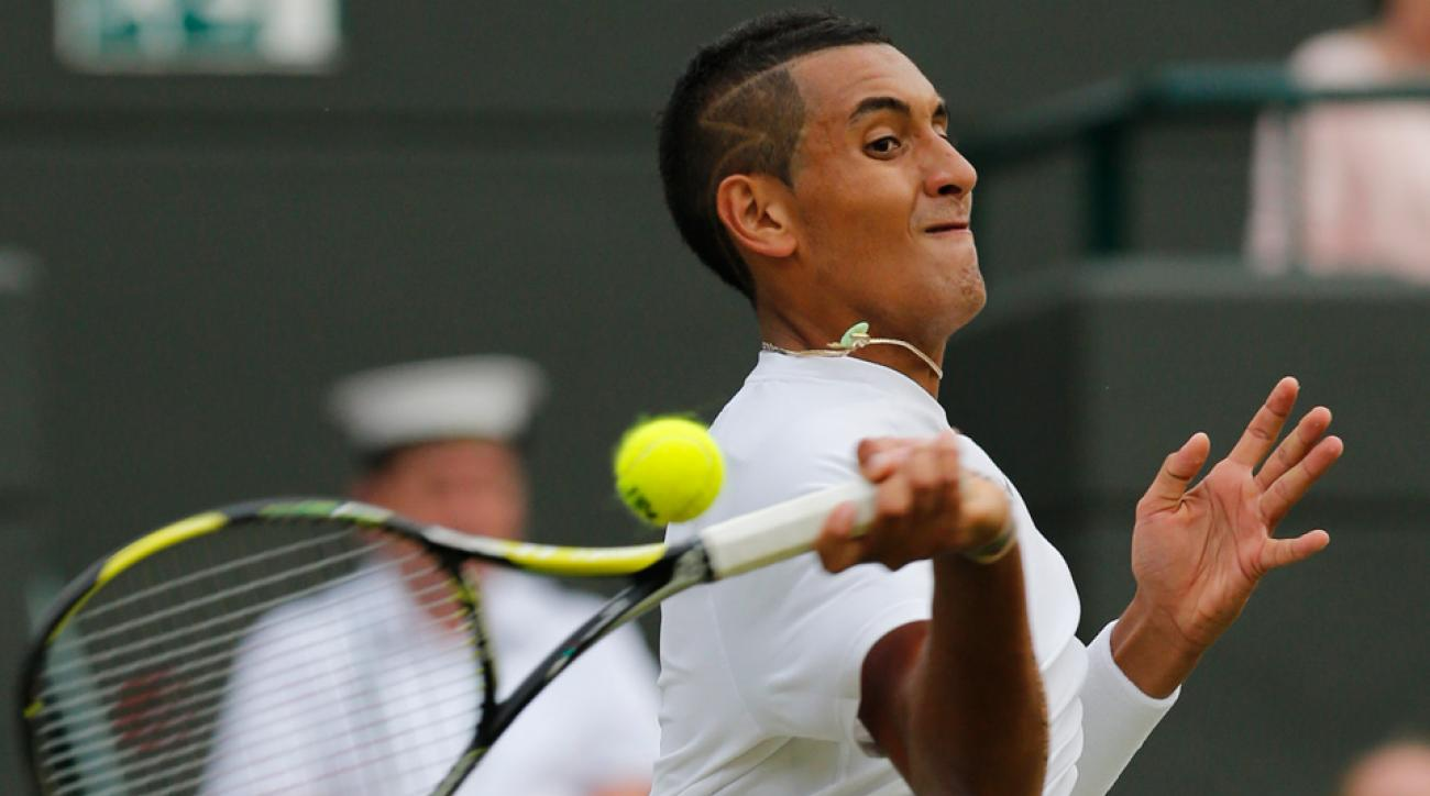 After taking down Rafael Nadal, Nick Kyrgios ended up with a target on his back - but not from anyone on the tennis court.
