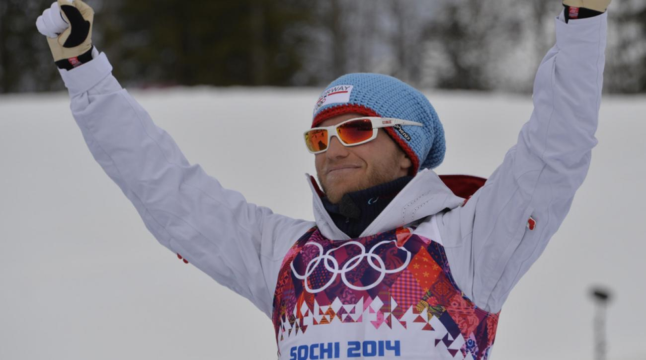 Russia is protesting the bronze medal awarded to Norweigen cross-country skier Martin Johnsrud Sundby (above), as Sundby crossed into Russian competitor Maxim Vylegzhanin's lane during the men's skiathlon.