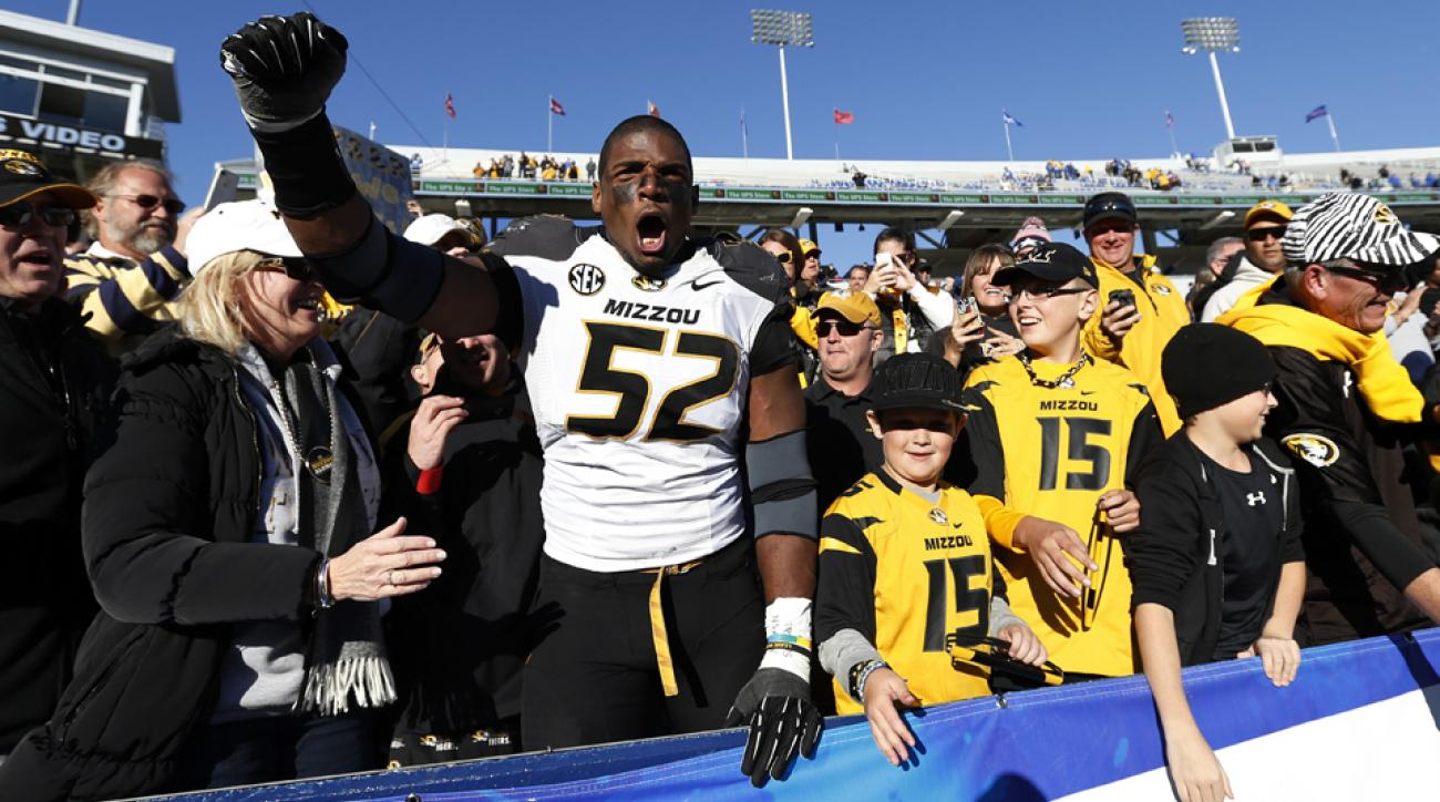 Michael Sam, an All-America defensive end as a senior at Missouri, is preparing for the NFL draft in May.