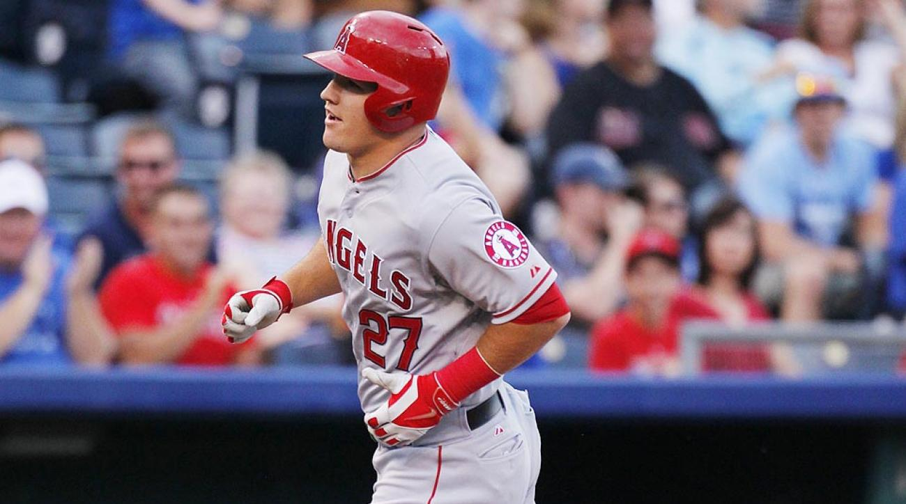 Mike Trout is no stranger to long home runs, but his latest effort in Kansas City was reminiscent of historic blasts.