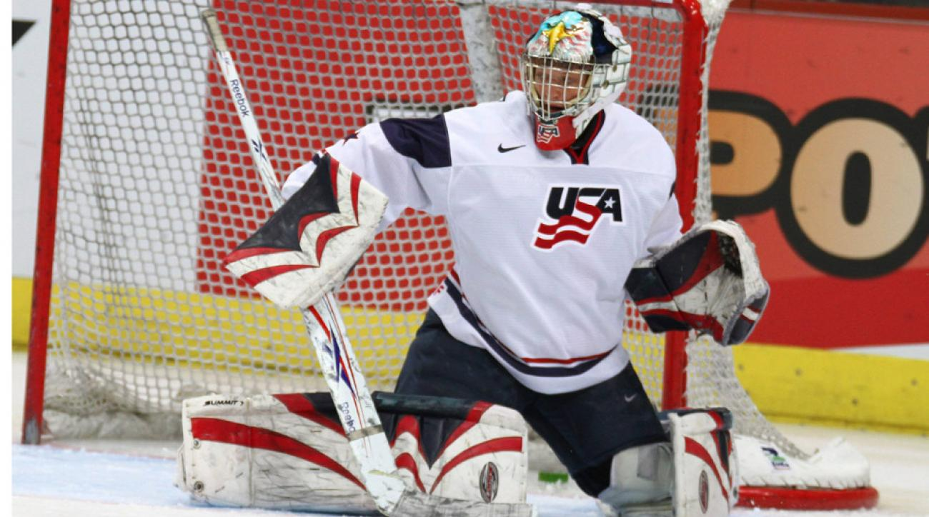Molly Schaus will get the start against Switzerland for the U.S. women's hockey team in their second game in Sochi.